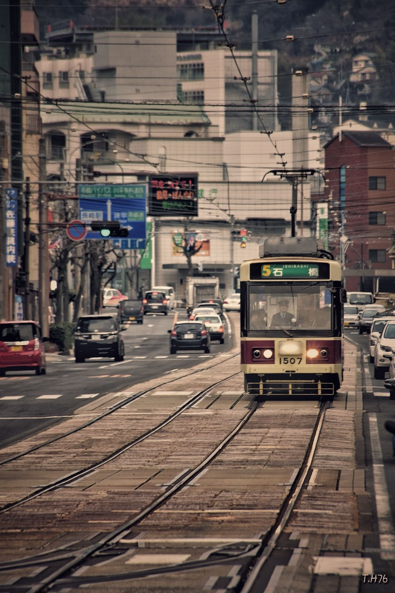 풍경 Th76 Day 여행 정류장 시간 일본여행 노면전차 일본 나가사키