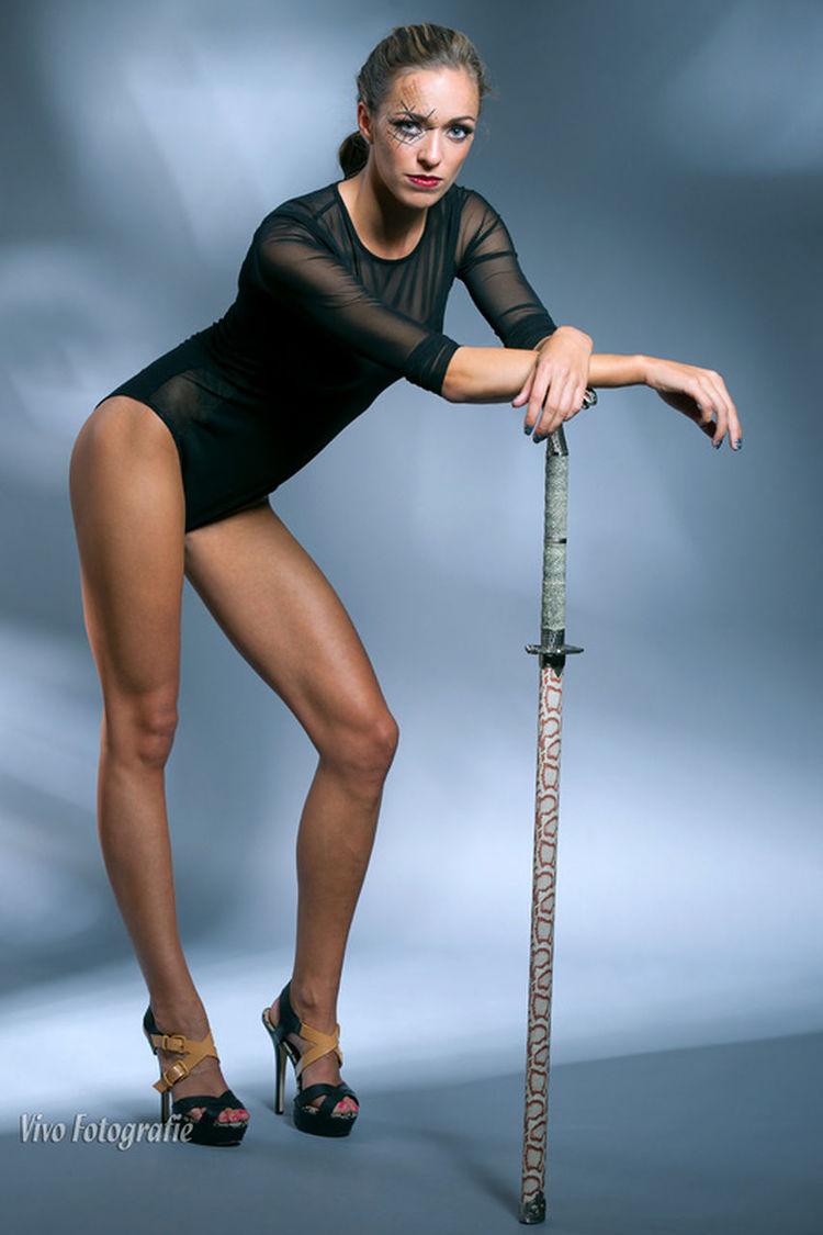 Legs Modeling Shooting Studio Photography Models Vivofotografie Photoshoot Model Full Body Legs Sexylegs Sexygirl Katana Katana Girl blue