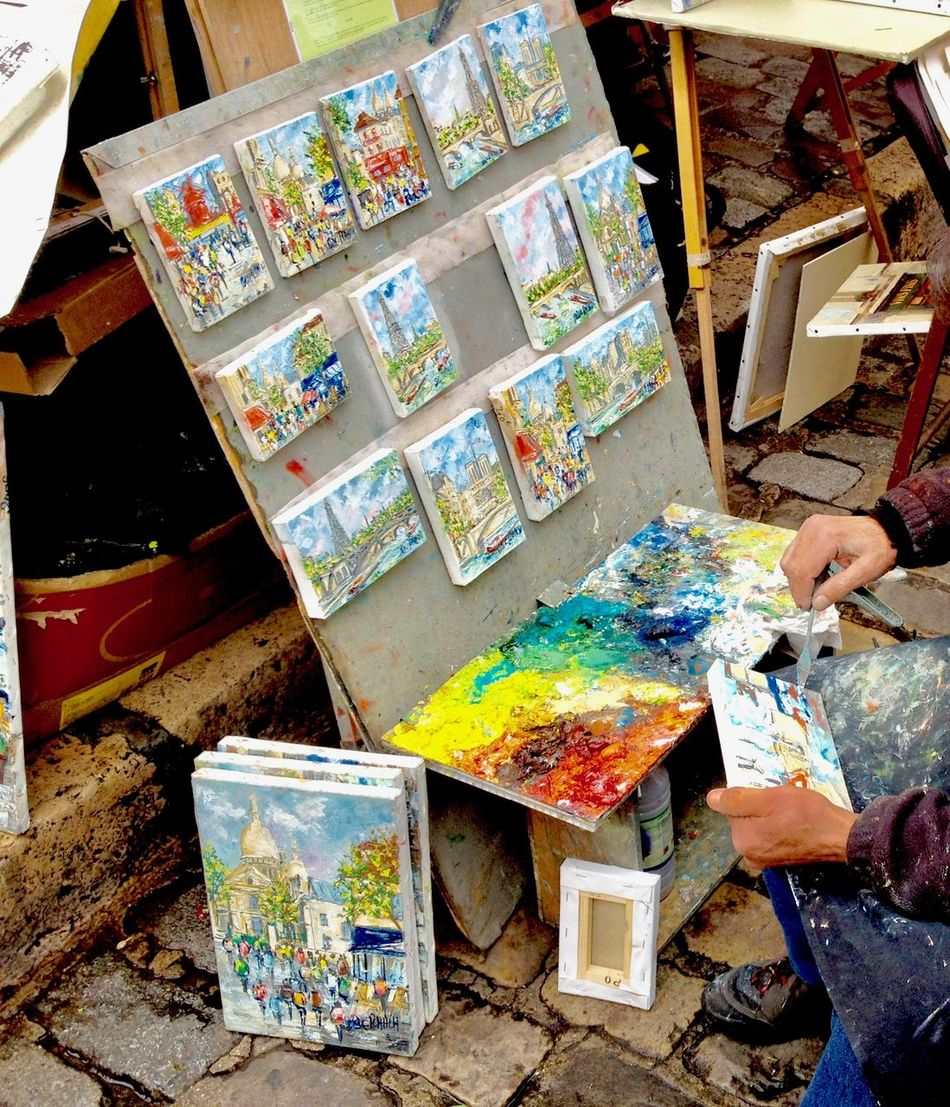 Art And Craft Art And Craft Equipment Art Studio Artist Artist's Canvas Creativity Day France France 🇫🇷 Human Body Part Messy Mixing Multi Colored Oil Paint Paint Paint Can Paintbrush Painter - Artist Palette Paris Paris ❤ People Studio Pintura Painting