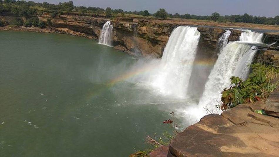 Rainbow Waterfall Heavenlybeauty Mesmerizing Worthwatching HTCDesireEye