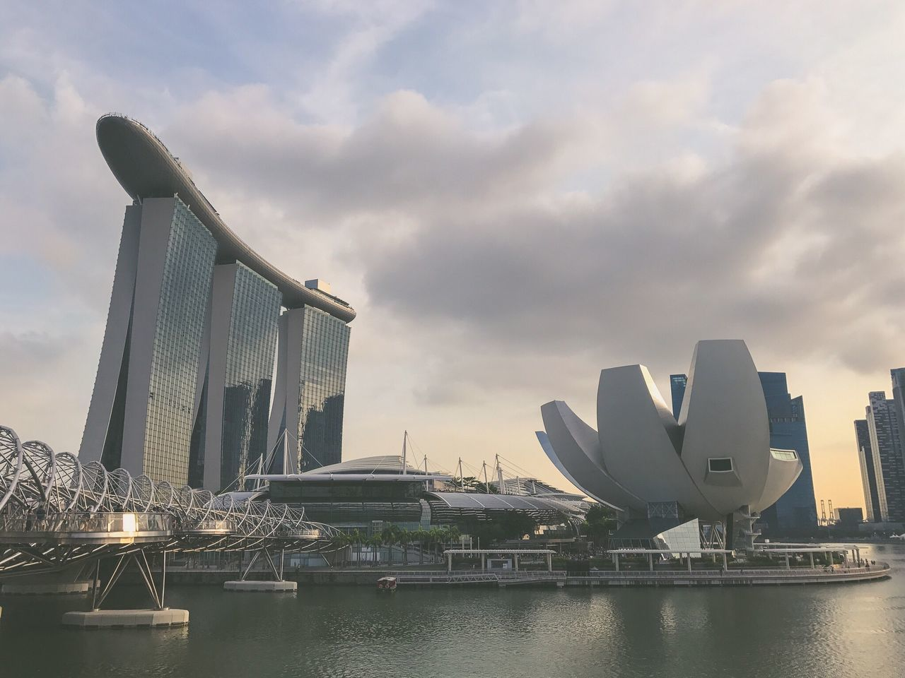 Architecture City Building Exterior Built Structure Travel Destinations Modern Travel Skyscraper Cityscape Waterfront Outdoors Sky No People River Water Urban Skyline Cloud - Sky Bridge - Man Made Structure Day