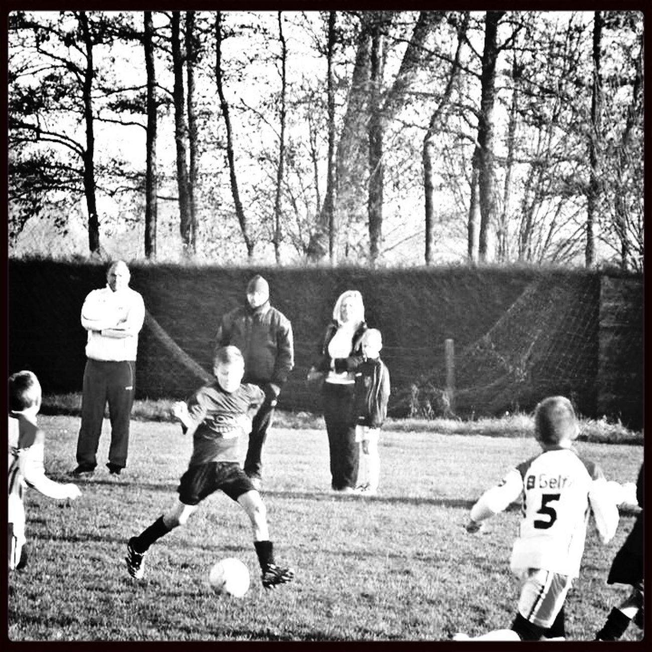 Soccer Football Children Black And White Monochrome