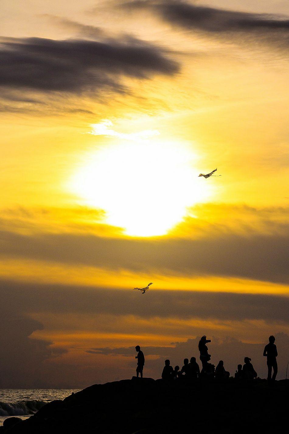Selayang senja... Beach Sunset Dramatic Sky Silhouette Romantic Sky Nature Landscape Photography Wonderfulindonesia