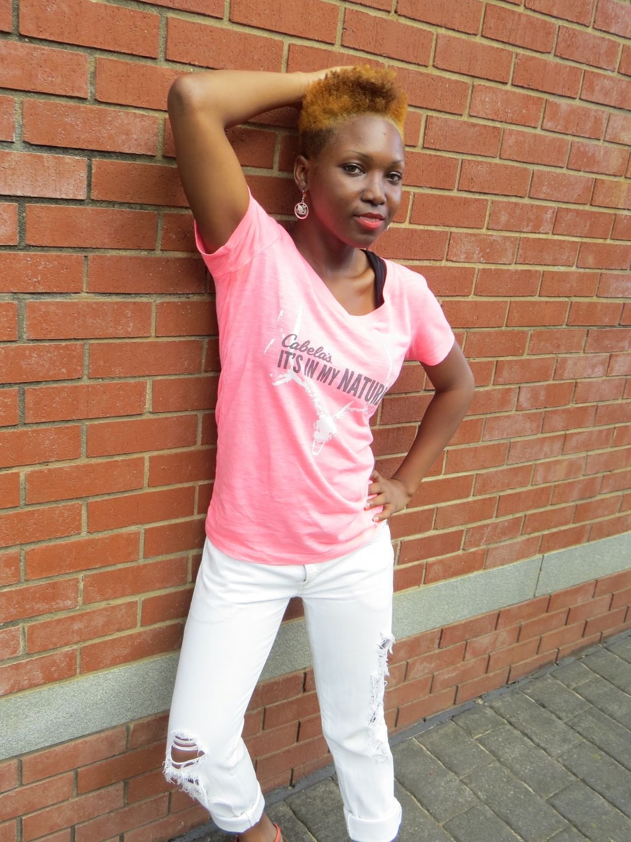 Brick Wall Day One Person Outdoors People Pink Color Portrait Standing