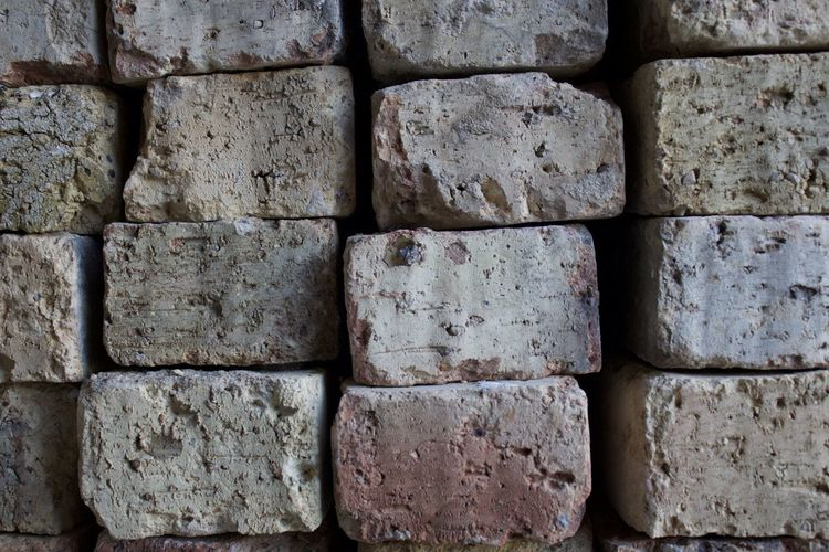 Brick Pile Construction Materials Milk Brick Old Bricks Pink And Yellow Tones Stack Of Bricks Wisconsin Bricks
