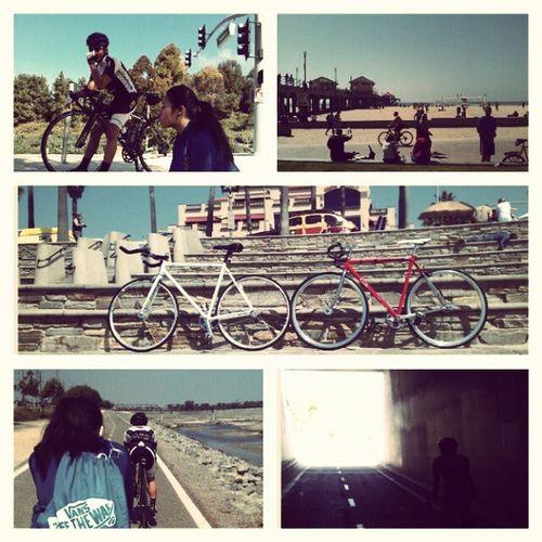 I LOVE THESE TWO LOVELY PEOPLE :) #bikingadventure #adventure #bike #bikes #lealpha #scarlett #Julie #fixedgear #fixie #instadaily #instafixie #thefixedlife #newportbeach #retro #huntingtonbeach #beach #sabiketrail niqueemon is awesome :) and joseph is Sabiketrail Bikingadventure Beach Thefixedlife Bike Instafixie Bikes Retro Fixie Adventure Scarlett Fixedgear Instadaily Newportbeach Huntingtonbeach Julie  Lealpha Bikeoc