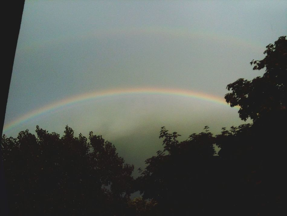Double Rainbows My Window View Nature