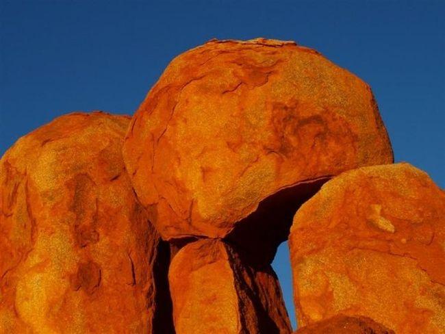 Traveling Devils Marbles Australia Outback