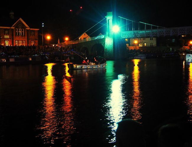 Waiting for the Fireworks River Riverside Night View Nottingham VictoriaEmbankment