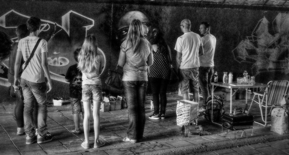 watching a graffiti artist Berenkuil Dynamo Eindhoven Graffiti Graffiti Art Graffiti Artist Men Outdoors People People Watching Spectator Step In The Arena Tunnel