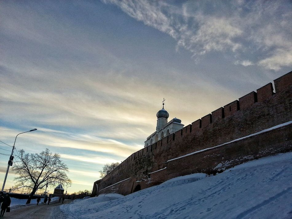 Samsung Galaxy S3 Snow Architecture Sky No People Day VelikiyNovgorod Velikiy Novgorod Nature