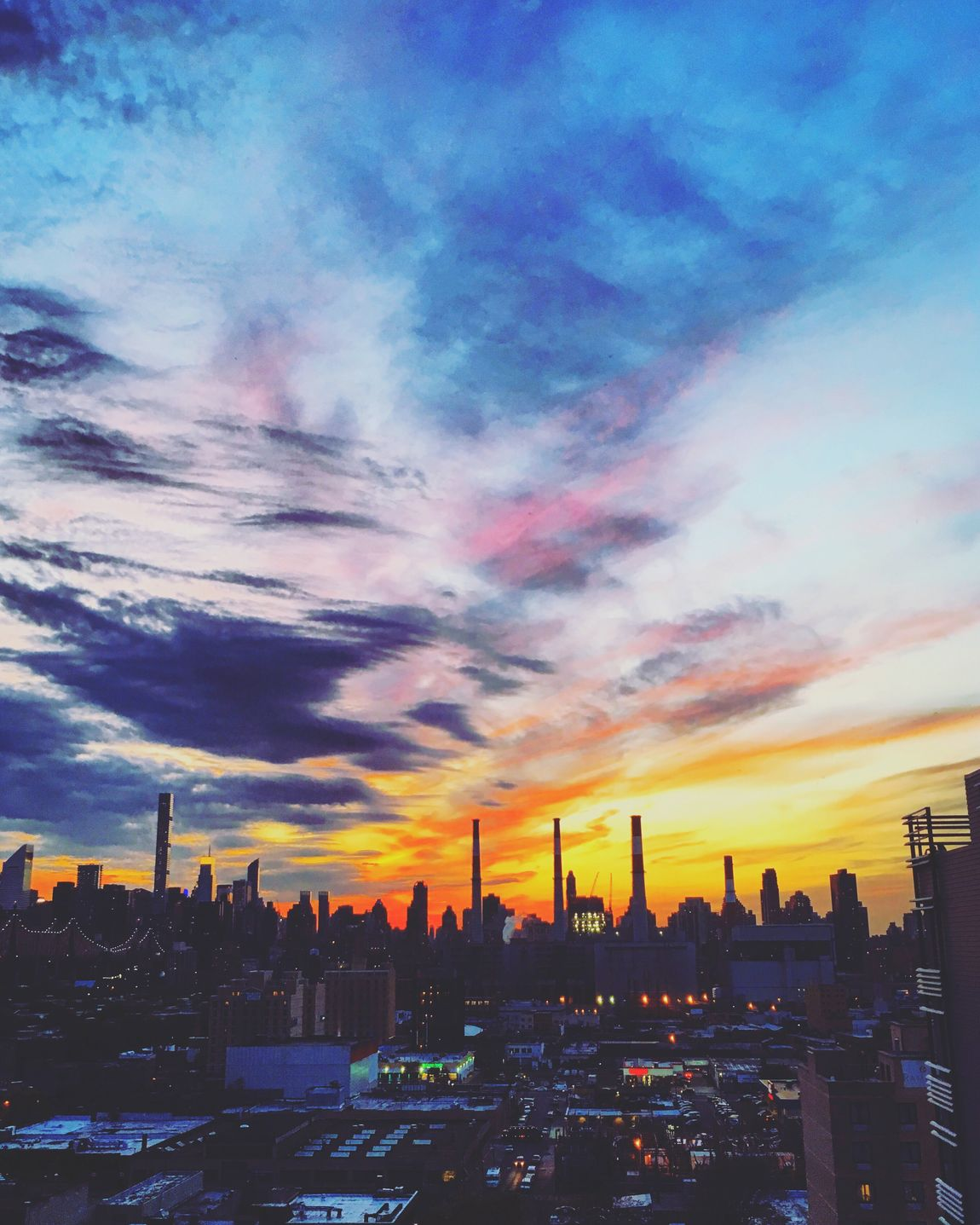 IPhoneography New York City Sky And Clouds Sunset Silhouettes Clouds And Sky Sunset The Great Outdoors With Adobe