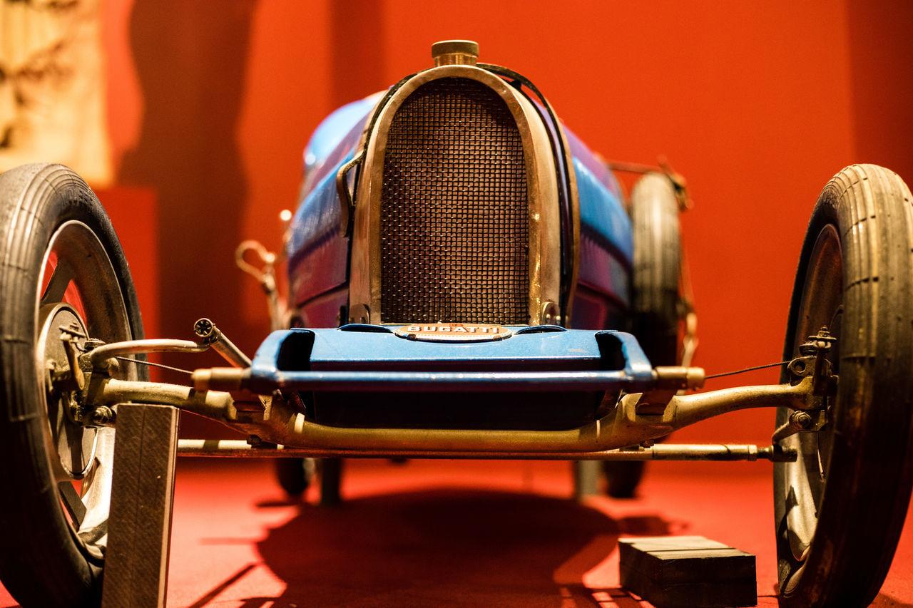 Cité de l'Automobile Bugatti Car Close-up Indoors  Land Vehicle Mode Of Transport Small Car Toy Car