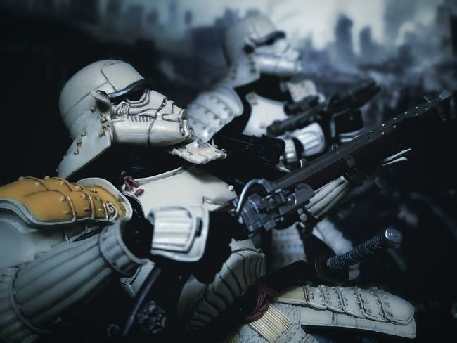 The gunmen War Star Wars Ashigaru Stormtrooper Teppo Ashigaru Sandtrooper Movie Realization Toy Photography Toys Samurai BANDAI Action Figures