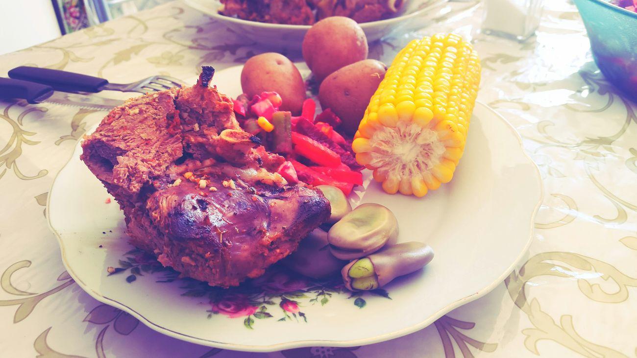 Almuerzo Lunch Cordero Delicious Enjoying Life Food Argentina Haba Papa Del Norte Jujuy