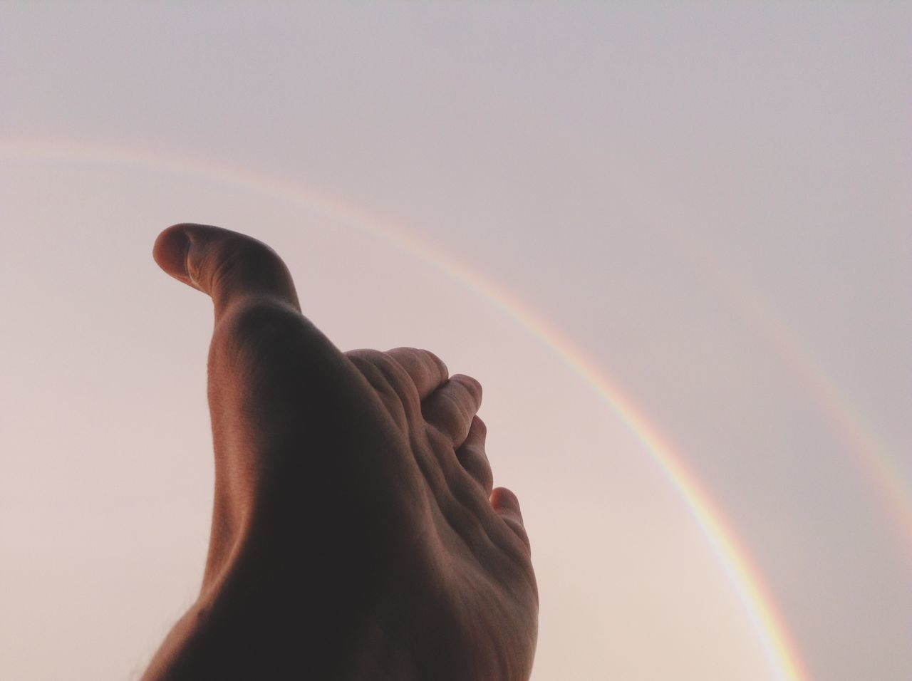 Beautiful stock photos of rainbow, Beauty In Nature, Cropped, Day, Human Body Part