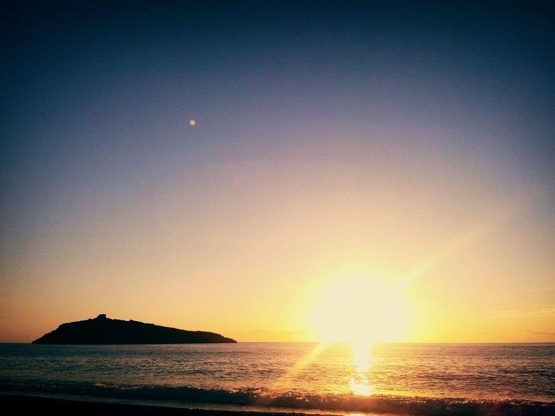 Sunset Island Shore Wanderlust