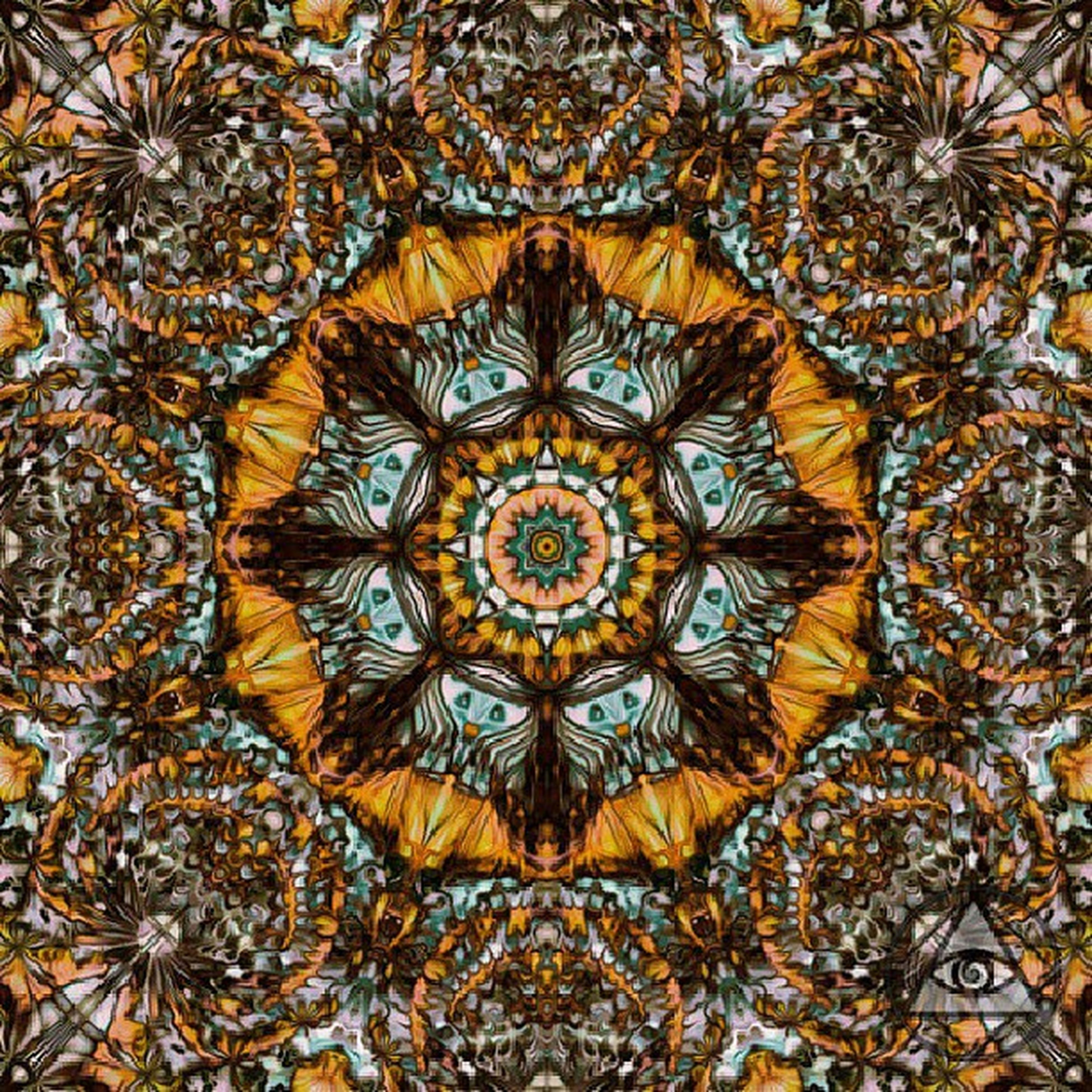 full frame, pattern, backgrounds, design, indoors, ornate, art and craft, textured, circle, art, floral pattern, creativity, close-up, no people, decoration, carving - craft product, ceiling, high angle view, religion, geometric shape