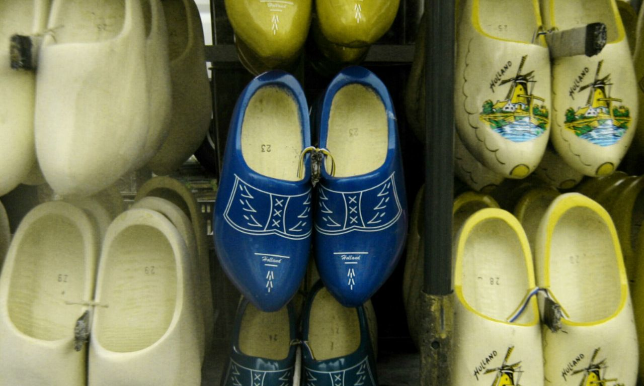 The dutch clogs - They are in different colors & sorts however I didn't manage to catch all of them . Typically Dutch Chance Encounters Pair Shoe Clogs Heritage Low Section Shelf Close-up Pattern Pieces EyeEm Gallery Simplie The Week On EyeEem Mobilephotography Galaxys3