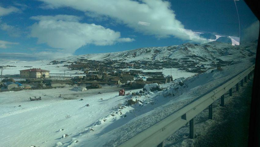 Cloud Cloud - Sky Cold Temperature Mountain Nature Outdoors Season  Snow Snowcapped Mountain Village Winter