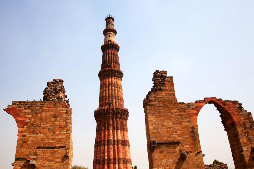 Attraction India Landmark Landscape Minar Delhi Monument Qtub Minar Ruins Touristic Travel Travel Photography