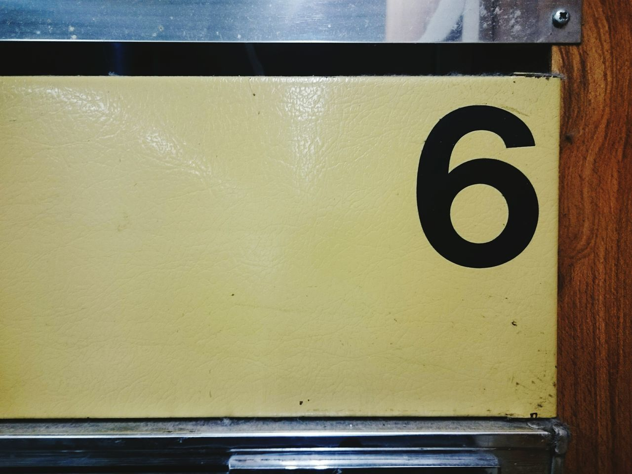 6 Number 6  Six Textures And Surfaces No People Close-up Colour Image Texture And Surfaces City Life Laundromat Laundrette Numbers Inside Photography Inside Washroom Vinylsticker Numbers And Signs Numbersix