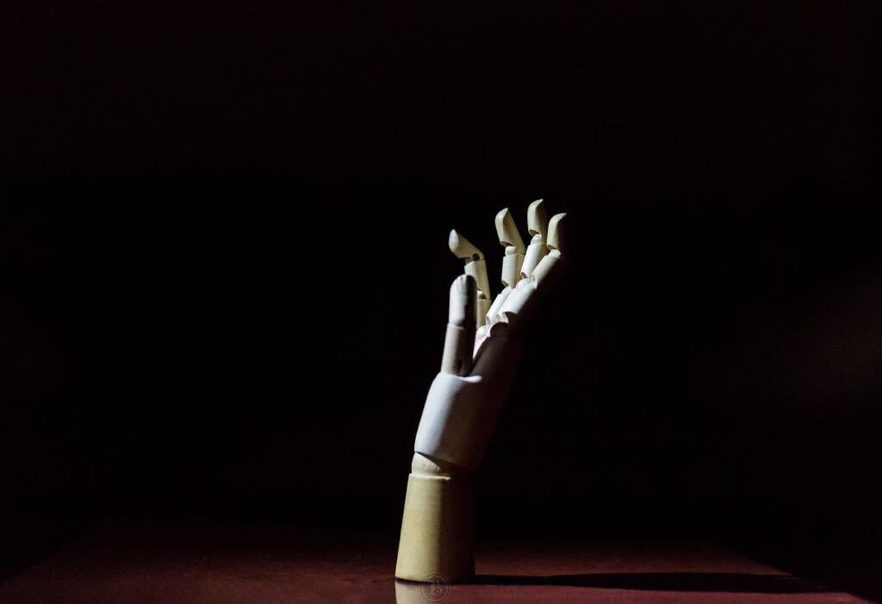 concept was a hand seeking salvation. Lost in the dark Shadow Wooden Hand Human Hand Human Body Part Studio Shot