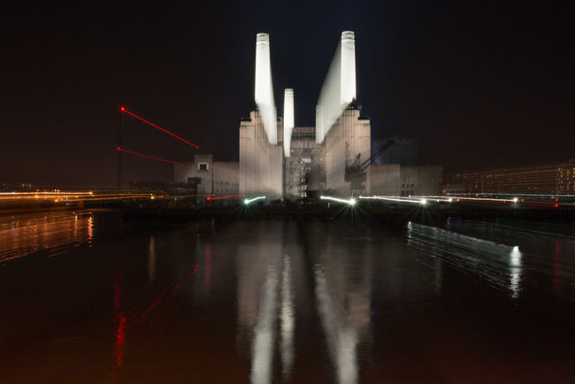 Architecture Battersea Power Station Built Structure Capital Cities  City Famous Place Illuminated Night Outdoors River Water
