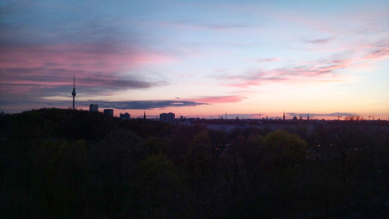 Berlin Sky Pink View From Above Skyporn Sunset Tvtowerberlin
