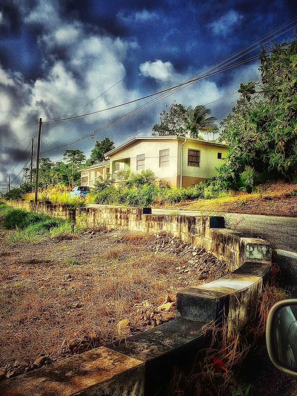 Countryside Country Living Countrylife Home House Roadside Nature On Your Doorstep Clouds And Sky Man Made Structure Driving Around Driving By Taking Photos House And Trees Morning Light Morning Sky Nature's Diversities Barbados 2016 Dramatic Sky