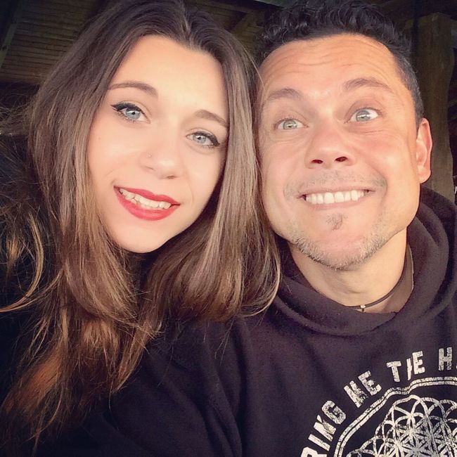 Me And My Daddy  I Love You ! Happy Twins Blue Eyes