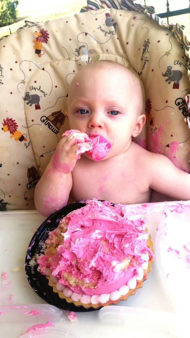 Happy birthday baby! HappyBirthday Oneyear Messybaby