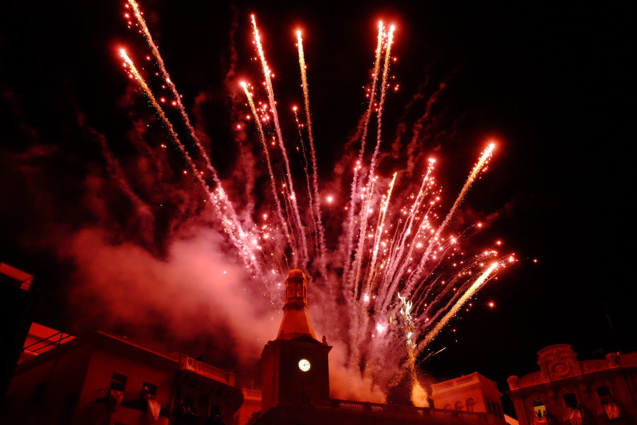 Beautiful stock photos of fireworks, Arts Culture And Entertainment, Blurred Motion, Bright, Building Exterior