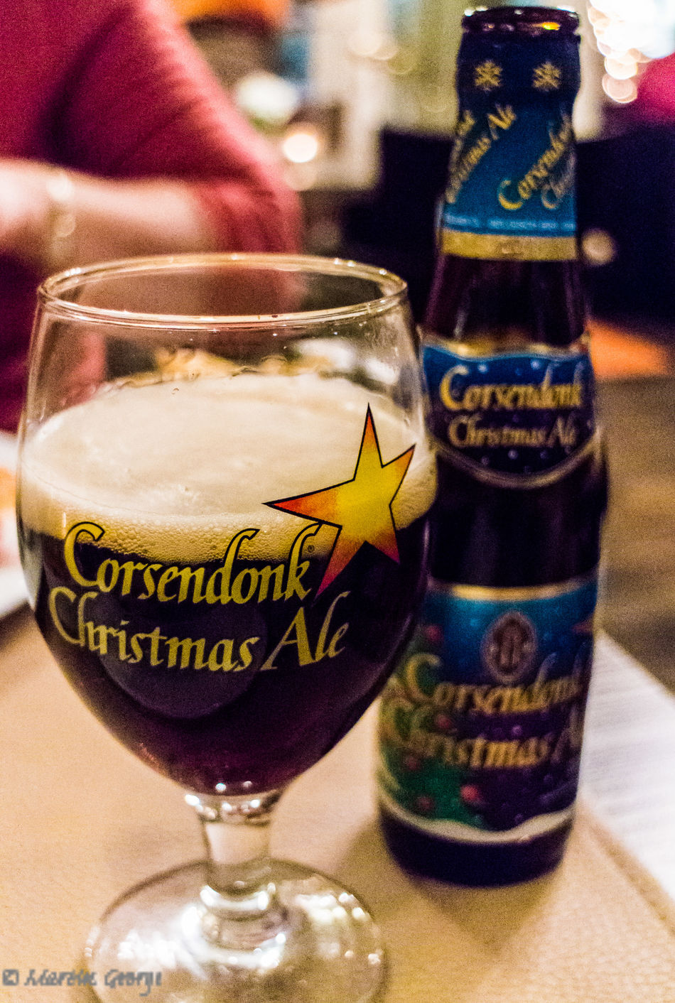 Belgium Brugge, Belgium Celebration Christmas Christmas Ale Christmas Beer Close-up Drink Food And Drink Refreshment Still Life Table The Culture Of The Holidays