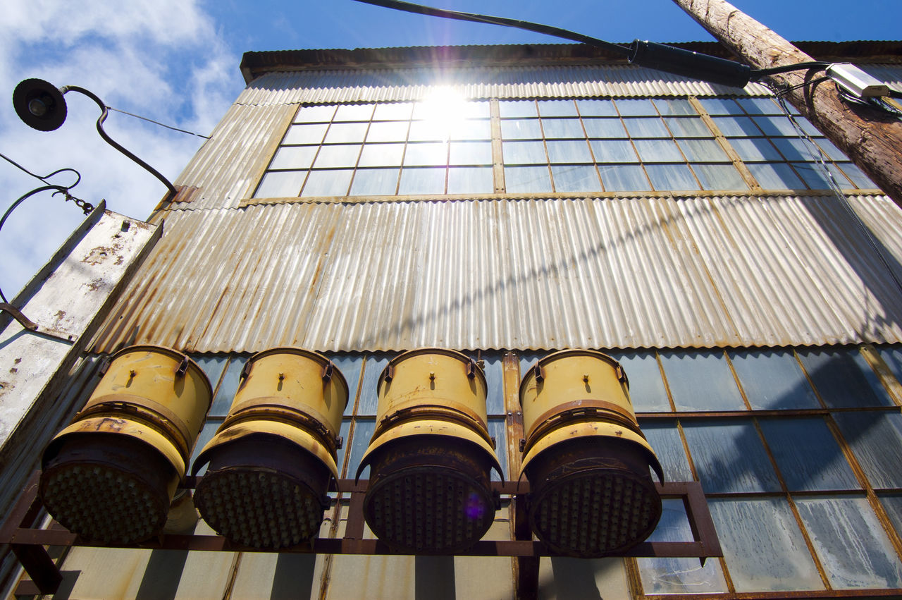 Beautiful stock photos of industrial, Building Exterior, Container, Corrugated, Day