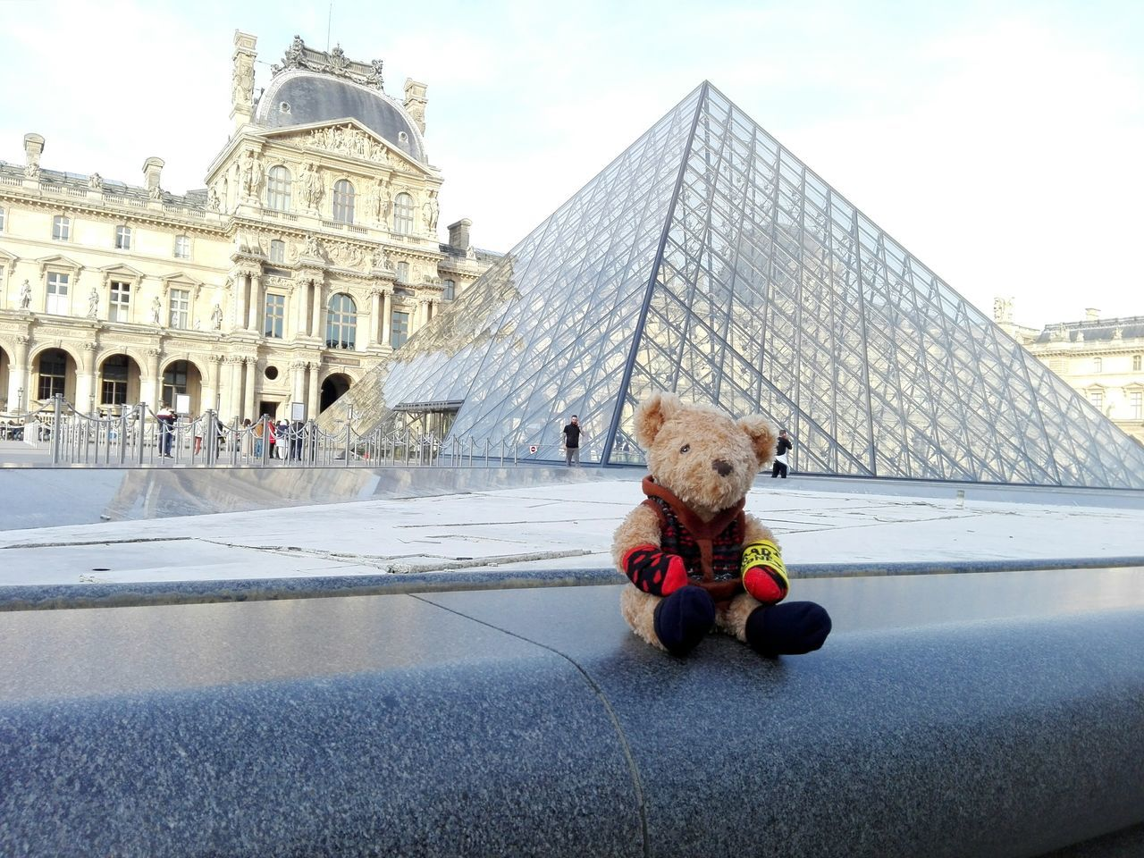 Happy bear at Louvre Paris Teddy Bear Fluffy Toy Toy Photography Toys Child Childhood Childhood Memories Paris Louvre France City Light And Shadow Architecture Love Outdoors Pyramid Pyramide Du Louvre Happy Happiness Night Photography Photo City Life Travel EyeEmNewHere Long Goodbye Break The Mold Art Is Everywhere TCPM Visual Feast Neighborhood Map The Street Photographer - 2017 EyeEm Awards The Architect - 2017 EyeEm Awards The Great Outdoors - 2017 EyeEm Awards The Photojournalist - 2017 EyeEm Awards The Portraitist - 2017 EyeEm Awards BYOPaper! Live For The Story