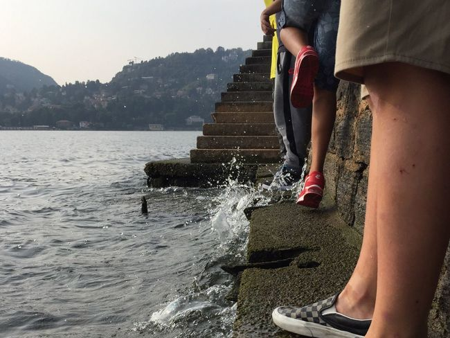 People And Places Underthewall Lake Lakecomo Water .