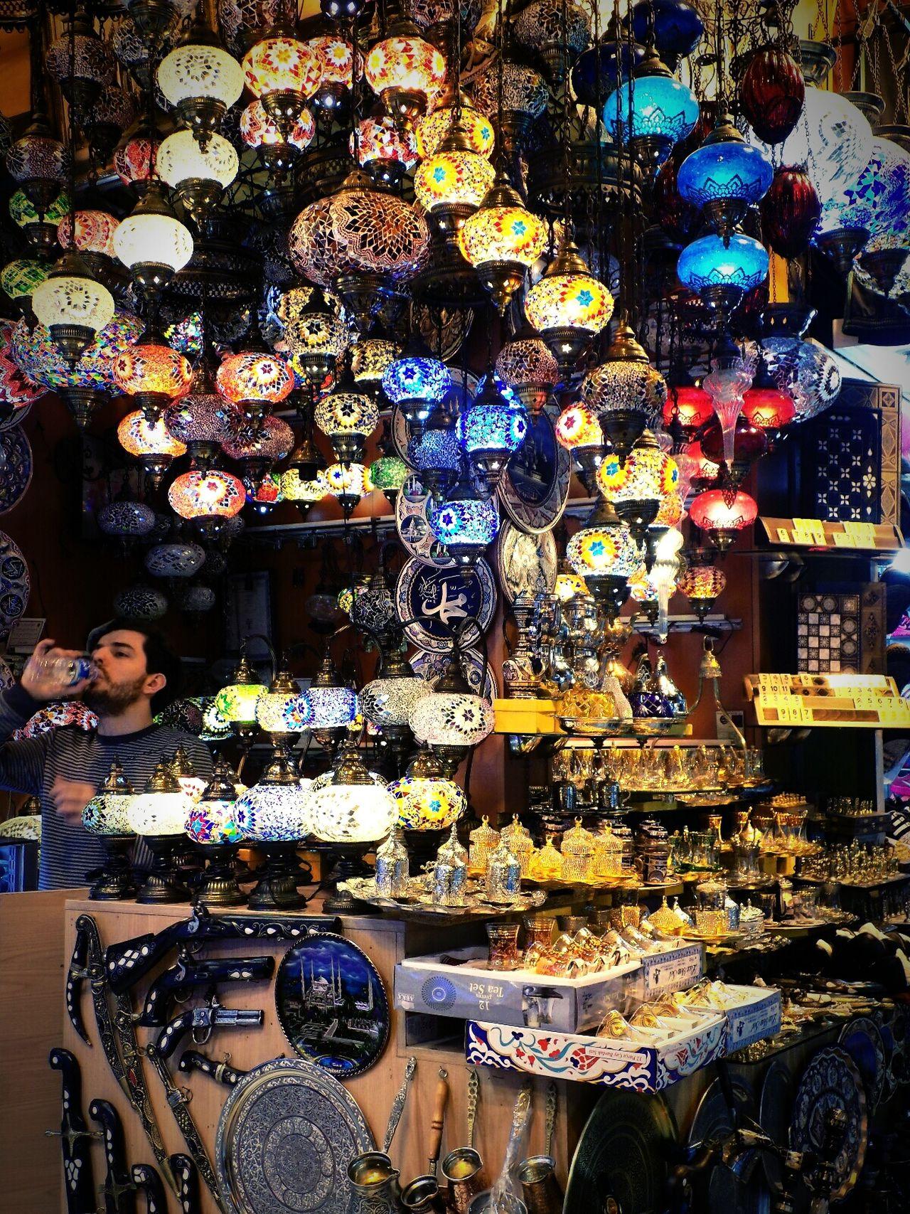 Turkey Istanbul Trip Lights Egyptian Bazaar Oldmarket Orient Oriental Lanterns Colorful