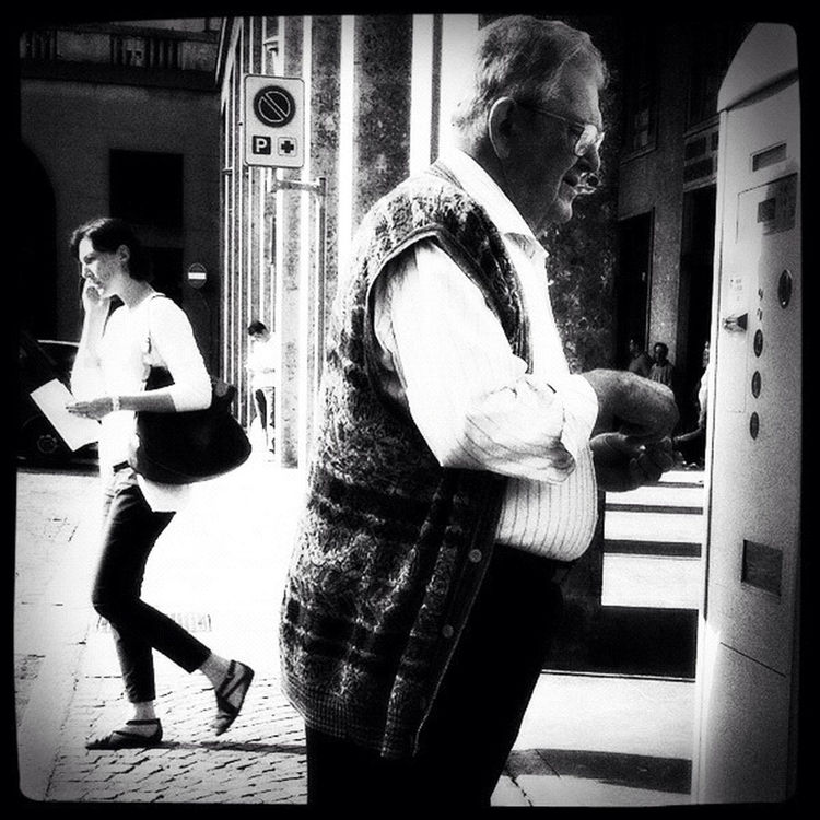 blackandwhite at Piazza Zumaglini by Cristiana