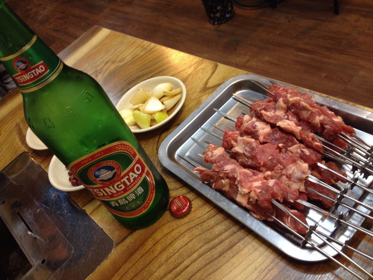 Lamb Skewers Beer Tsingtao 양꼬치! 아오 맛나ㅠ???????