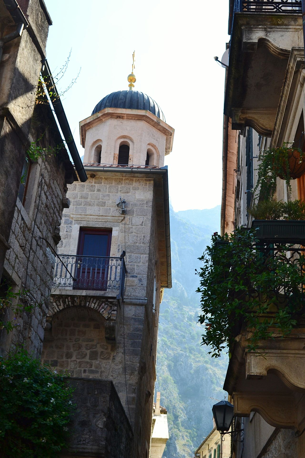 Hidden corners Kotor Cattaro Montenegro Architecture Travel Destinations Tower History Outdoors Façade Belltower Balcony Flowers
