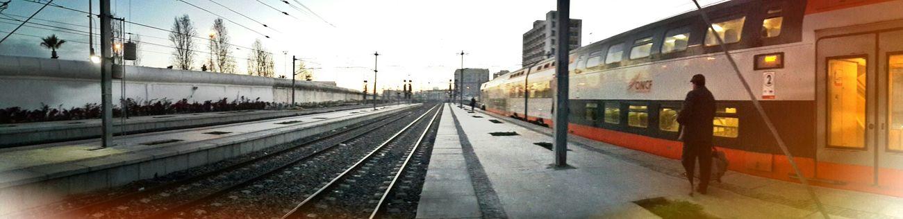 Train Trainstation Casablanca Morning