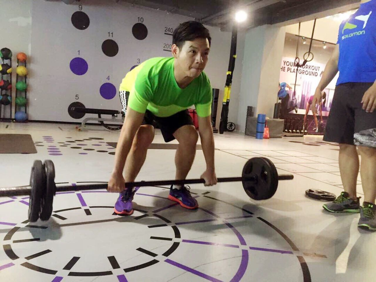 Exercising Gym Lifestyles Full Length Indoors  Healthy Lifestyle Only Men Self Improvement Adults Only Adult Standing Leisure Activity Sports Clothing Exercise Equipment People Sport Dedication One Man Only Real People One Person