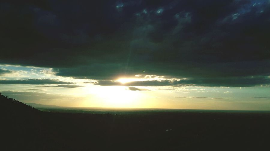 Sunlight Sunset Nature Outdoors Beauty In Nature Sky Sunbeam Cloud - Sky Coulds High Hill High Angle View High