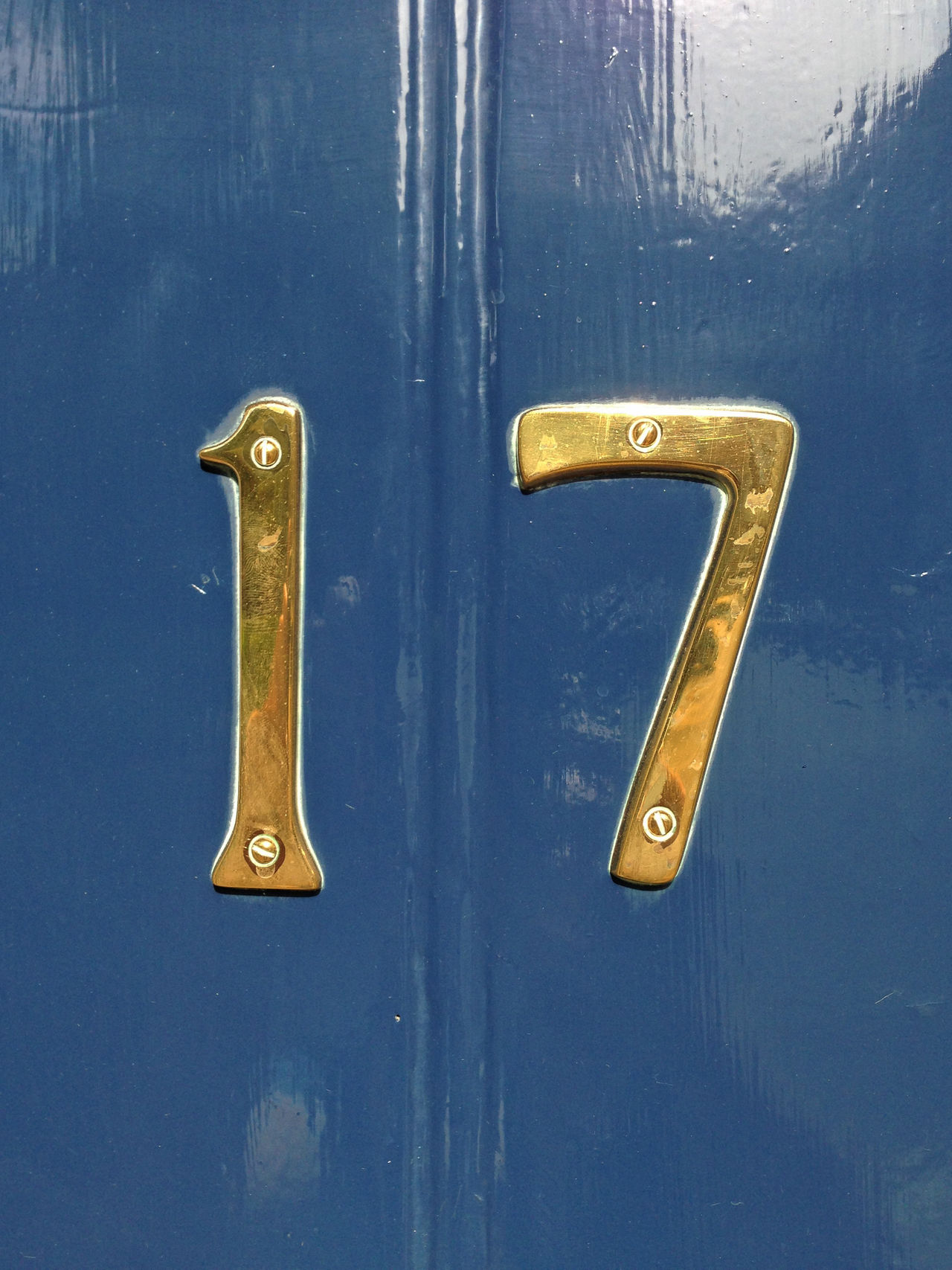 no 17 on a blue door 17 Address Blue Door Blue Paint Close-up Communication Creativity Detail Door Door Number Entrance House Door Metal Metallic No People Number Numbers Numbers Only Single Object Still Life