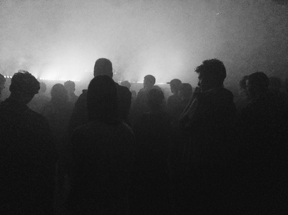 Music Smoke Silhouette Tim Hecker Crowd Monochrome Bw_collection Black And White People Malmö Welcome To Black