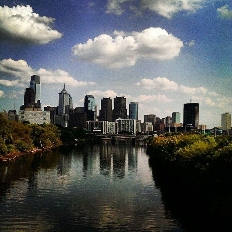 Philadelphia Skyline over the Schuylkill . City art naturemeetsurban yoloswaggin180mctwistdunkshot9000 cityscape