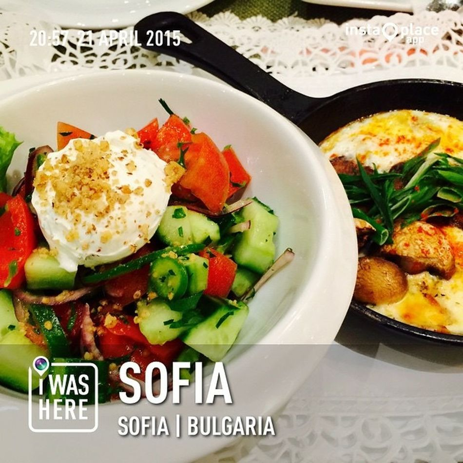My Bulgaria Travel Series : Sofia, Bulgaria my first taste of Bulgaria and I likes it! ❤️ dinner at authentic Bulgarian Restaurant Travel Photography Eye Em Around The World Enjoying Every Moment Solotraveler By Myself In Foreign Land Life Is Beautiful Foodporn For My Own Photo Journal Lizara ❤️ - There is no sincerer love than the love of food ! 😜❤️😘👌❤️
