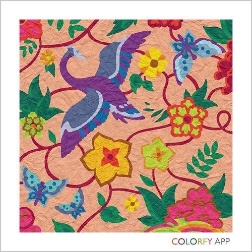 Colorfy Colorcombinations Paper Filter Animals Birds Floura