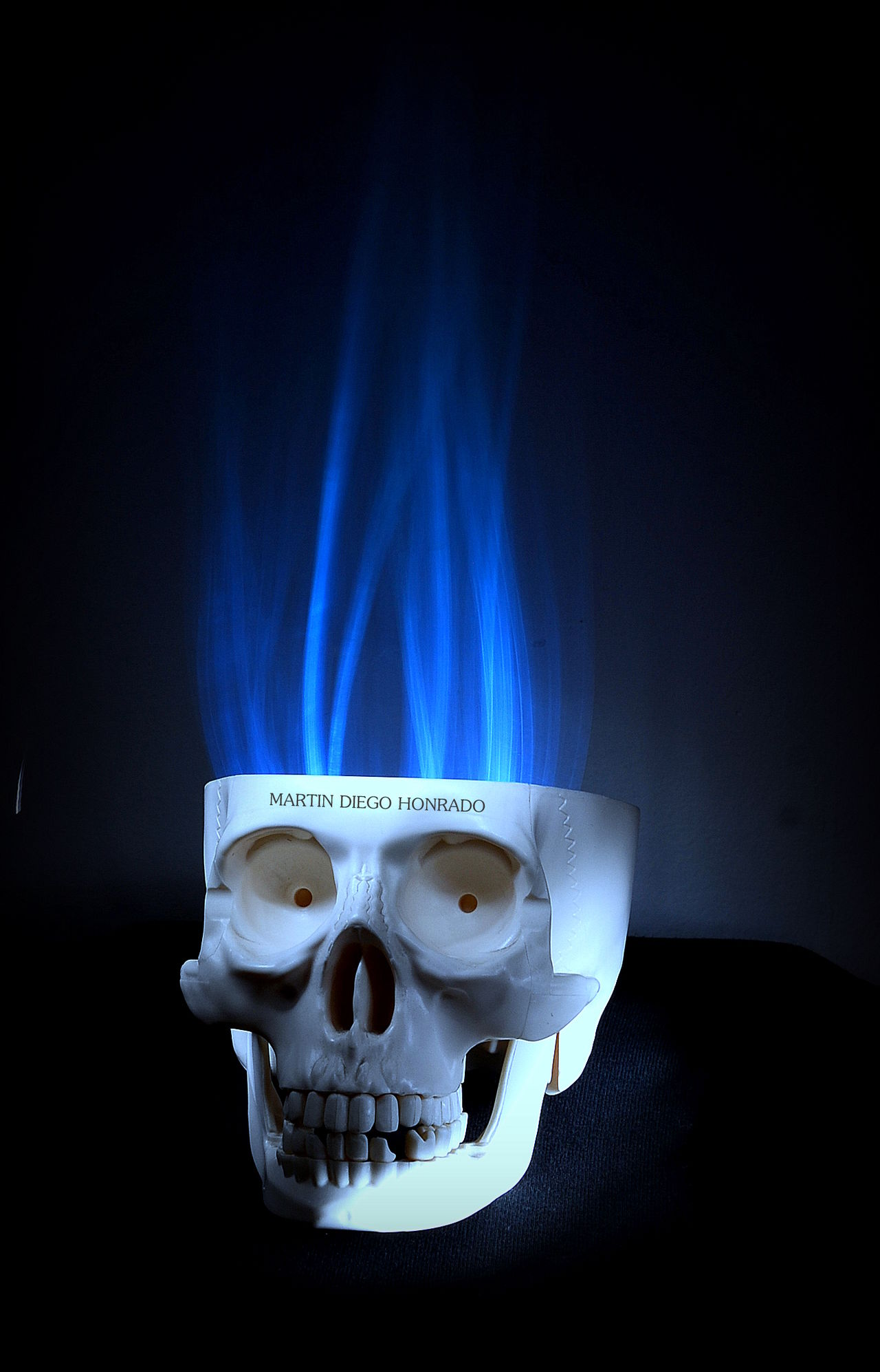 Skull Skull Art Flame Blue Flame Blue Flames Calavera  Lightpainting Lightpaintingphotography Jugando Con La Luz Lightpainting Photography Exposure Aperture Shutterspeed